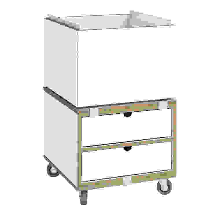 Rollcontainer mit Schubladen: modern  von stocubo - Das modulare Regalsystem,Modern