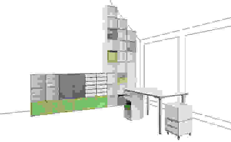 Regal mit Dachschräge: modern  von stocubo - Das modulare Regalsystem,Modern