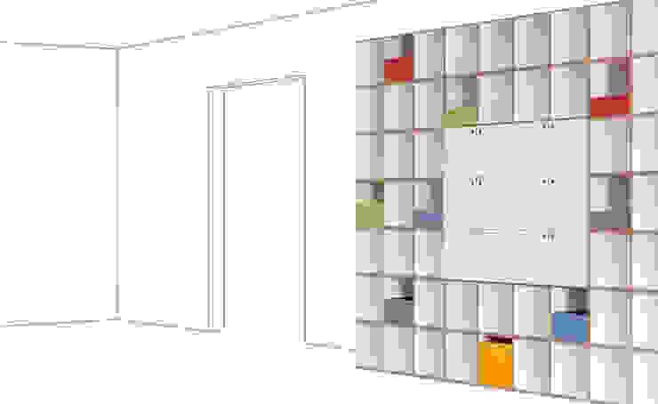 Büroregal aus MDF: modern  von stocubo - Das modulare Regalsystem,Modern