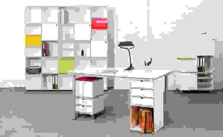Arbeitsplatz: modern  von stocubo - Das modulare Regalsystem,Modern
