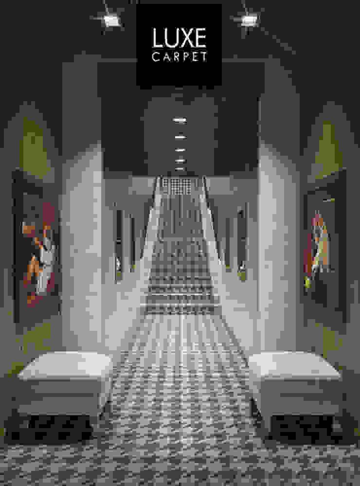Houndstooth pattern carpet: modern  by LUXEcarpet, Modern