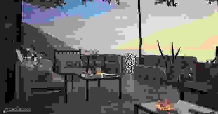 Balcones y terrazas mediterráneos de Vittorio Bonapace 3D Artist and Interior Designer Mediterráneo