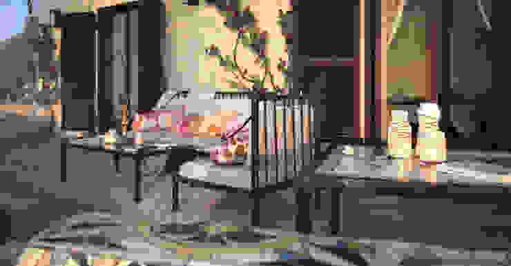Terrazza Balcone, Veranda & Terrazza in stile mediterraneo di Vittorio Bonapace 3D Artist and Interior Designer Mediterraneo