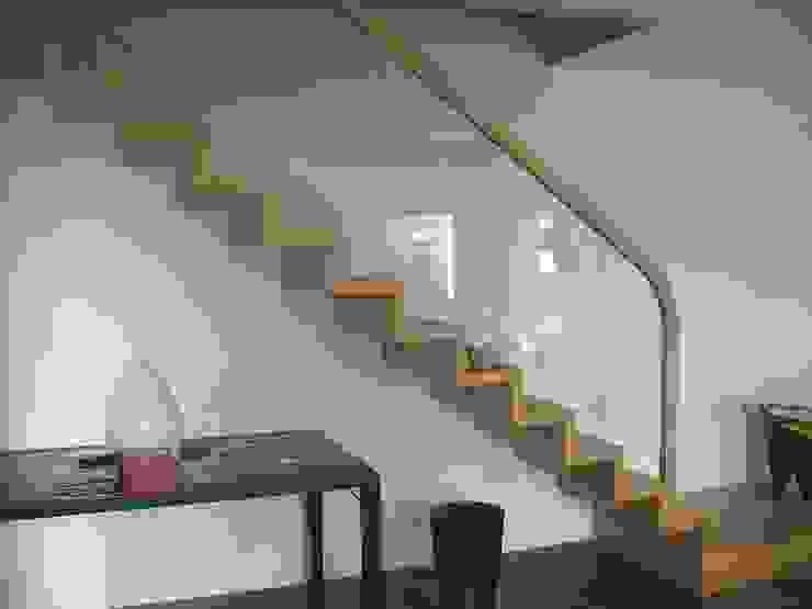 bois verre ADIBOIS Couloir, entrée, escaliers