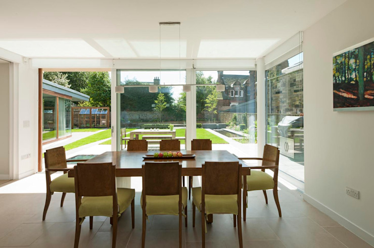 New villa in West Edinburgh - Dining Room Modern houses by ZONE Architects Modern