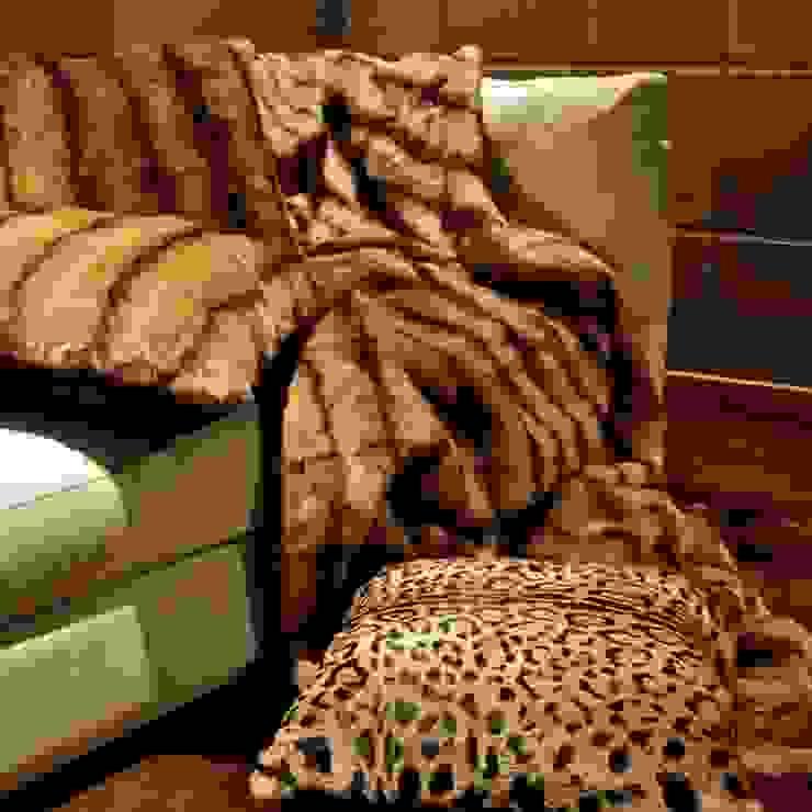 Mantas y almohadones de piel natural de Miyabi casa