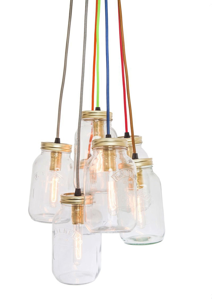 Jam Jar Lights @ LimeLace.co.uk: modern  by Lime Lace Eclectic Interiors, Modern