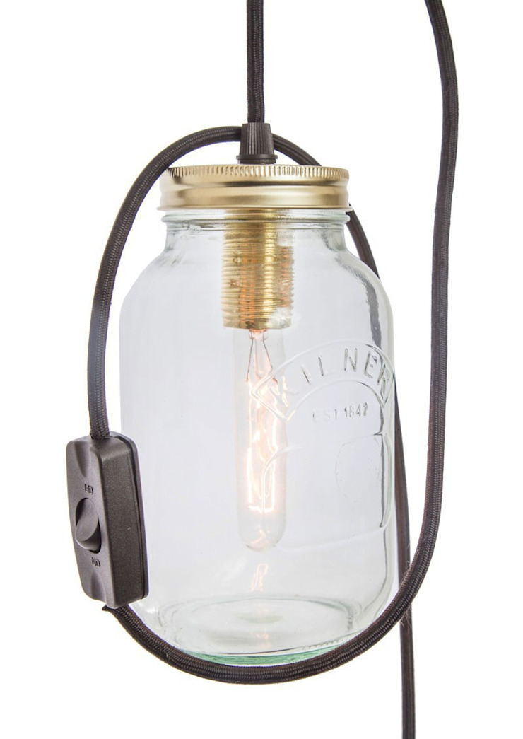 Jam Jar Lights @ LimeLace.co.uk Lime Lace Eclectic Interiors Living roomLighting