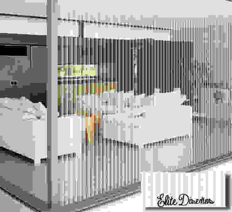 Cristal de salón de estar revestido con POV de Élite Diseños
