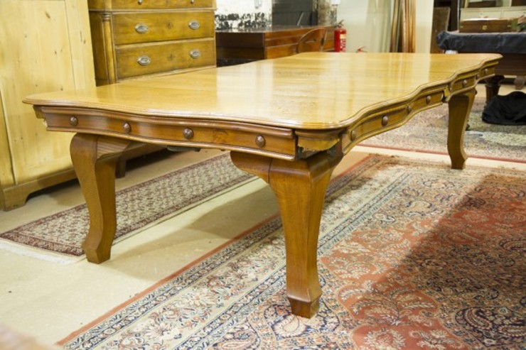 Riley serpentine antique snooker dining table.: classic  by Brown's Antiques Billiards and Interiors, Classic