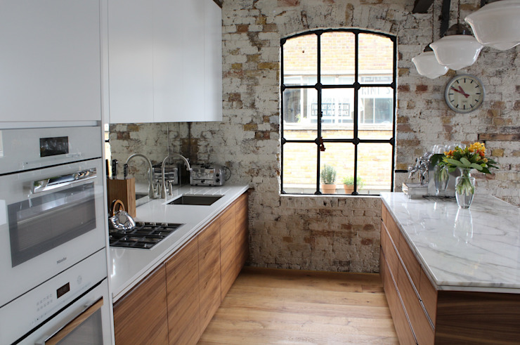 Shoreditch EC1: Warehouse Living Cocinas de estilo industrial de Increation Industrial