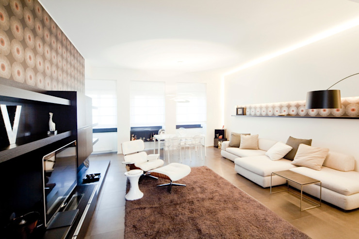 Private House Livings modernos: Ideas, imágenes y decoración de MNA Studio | Macchi Nicastri Architetti Moderno
