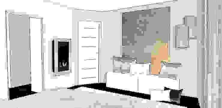 suite parentale élégante Chambre moderne par agence concept decoration Moderne