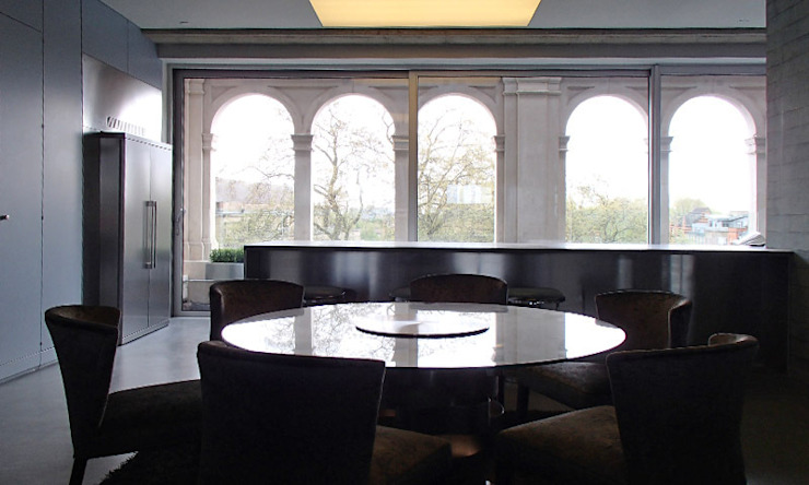 Shoreditch Church Penthouse Modern dining room by Space Group Architects Modern