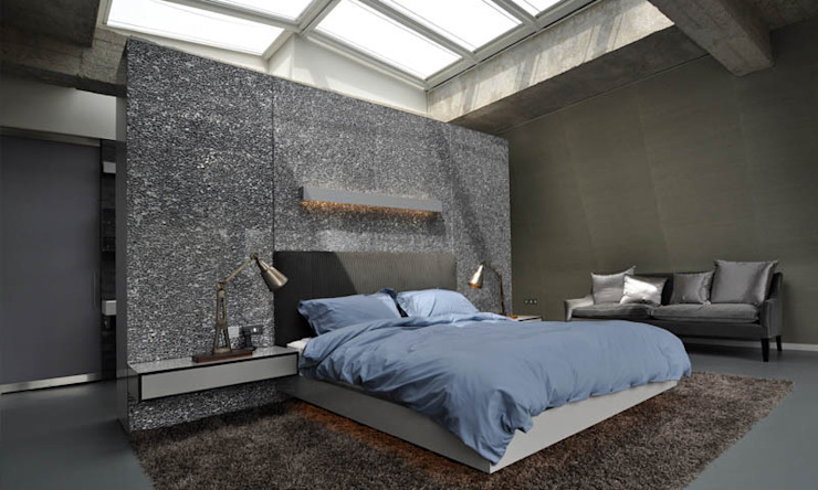 Shoreditch Church Penthouse Space Group Architects Modern style bedroom