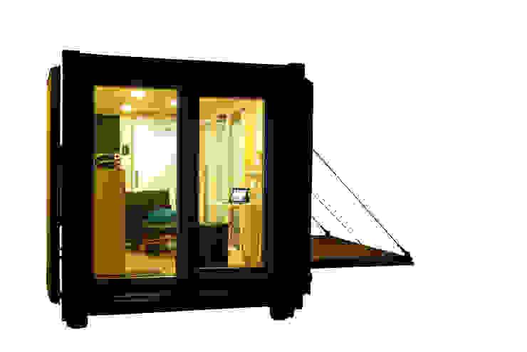 Pocketcontainer die Mikrowohnung im Überseecontainer von Stefan Brandt - solare Luftheizsysteme und Warmuftkollektoren