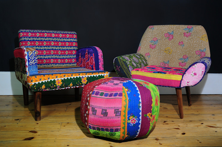 Chairs & Pouffe por Misty Interior