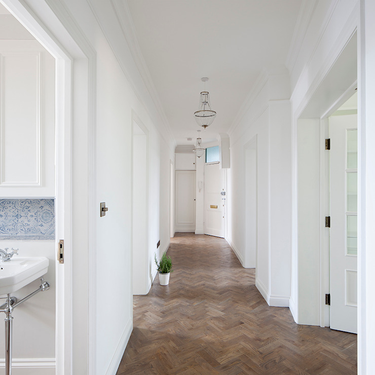 Oakhill Court, Putney Rustic style corridor, hallway & stairs by Ardesia Design Rustic