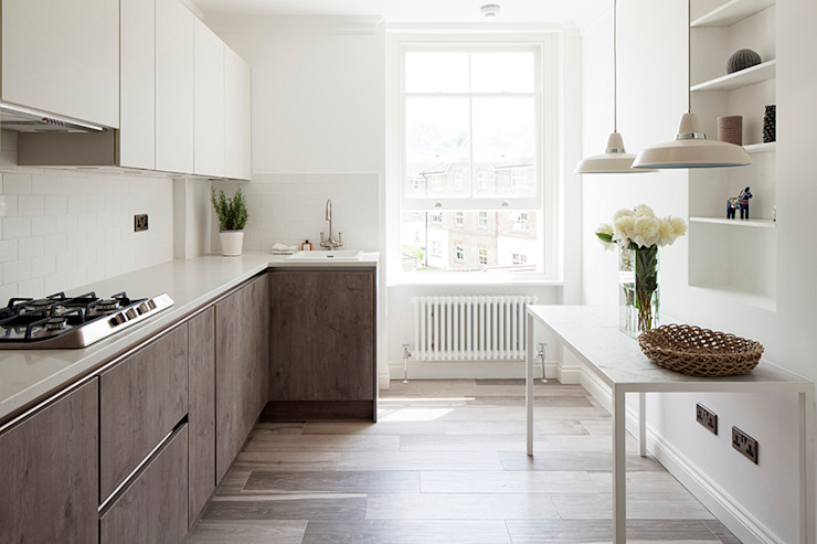 Oakhill Court, Putney Rustic style kitchen by Ardesia Design Rustic