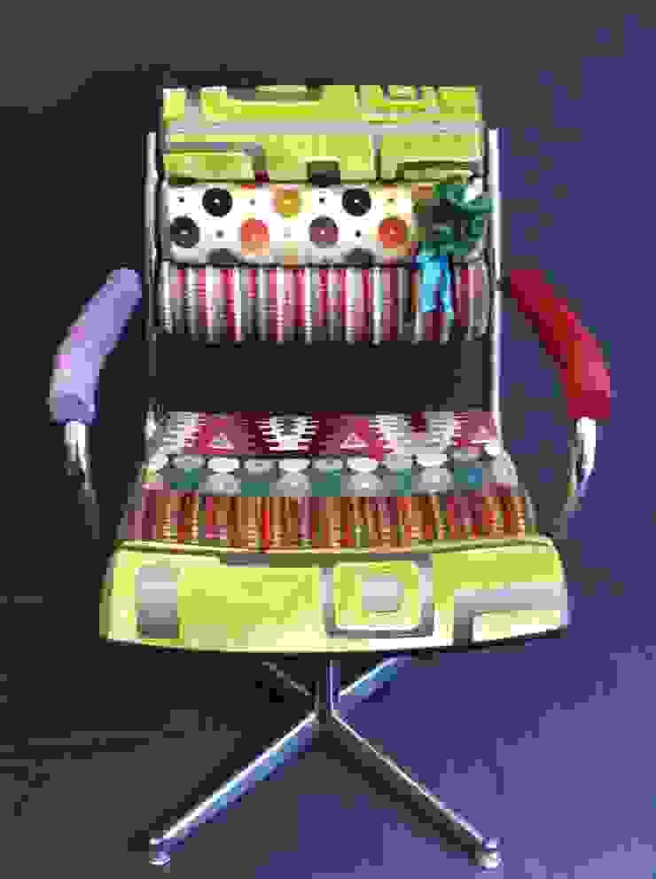 """fauteuils à """"boudins"""" par Scenes d'interieuR Éclectique"""