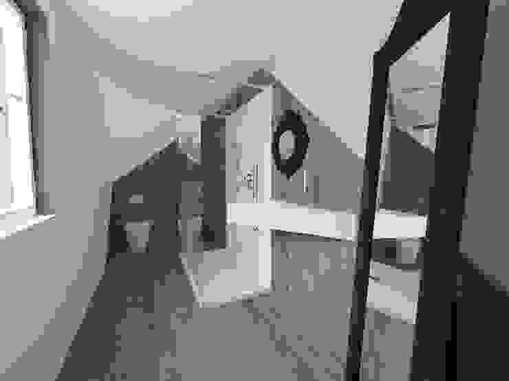 3d bagno Bagno eclettico di Inarte Progetti di Lucio Mana Eclettico