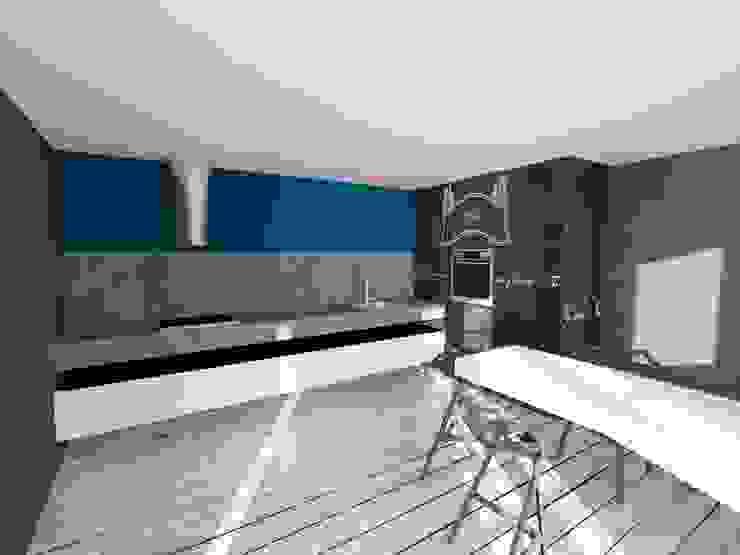 RENDERING DI PROGETTO Cucina eclettica di Inarte Progetti di Lucio Mana Eclettico