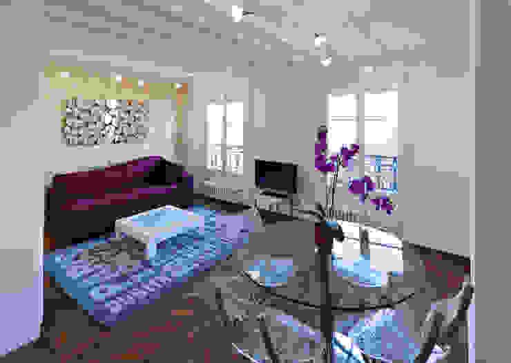 Mobilier contemporain dans un appartement classique Salle à manger classique par Fables de murs Classique