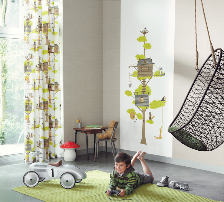 Casadeco Kindertapeten und Stoffe Playtime Ausgefallene Kinderzimmer von Fantasyroom-Wohnträume für Kinder Ausgefallen