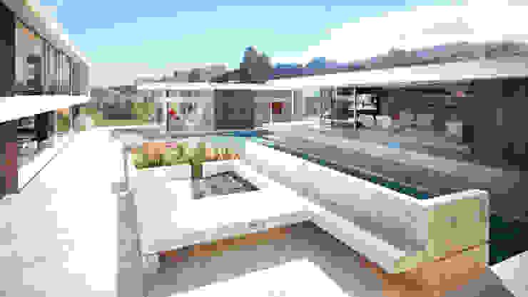 Render vivienda de lujo en Palos Verdes Casas de estilo moderno de Berga&Gonzalez - arquitectura y render Moderno