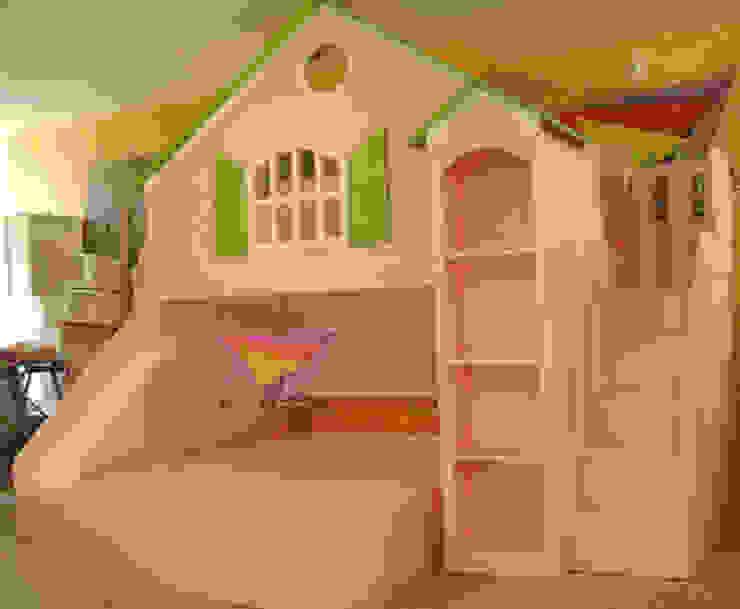 Hermosa casita rosa de camas y literas infantiles kids world Clásico