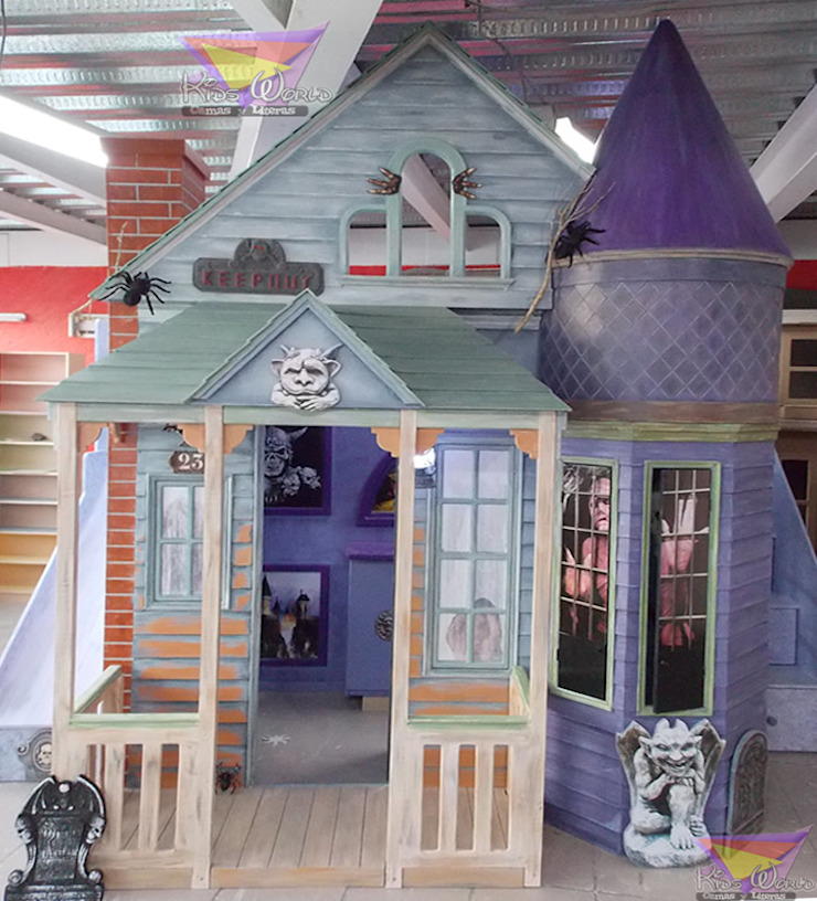 Impactante mansión del terror de Kids Wolrd- Recamaras Literas y Muebles para niños Clásico