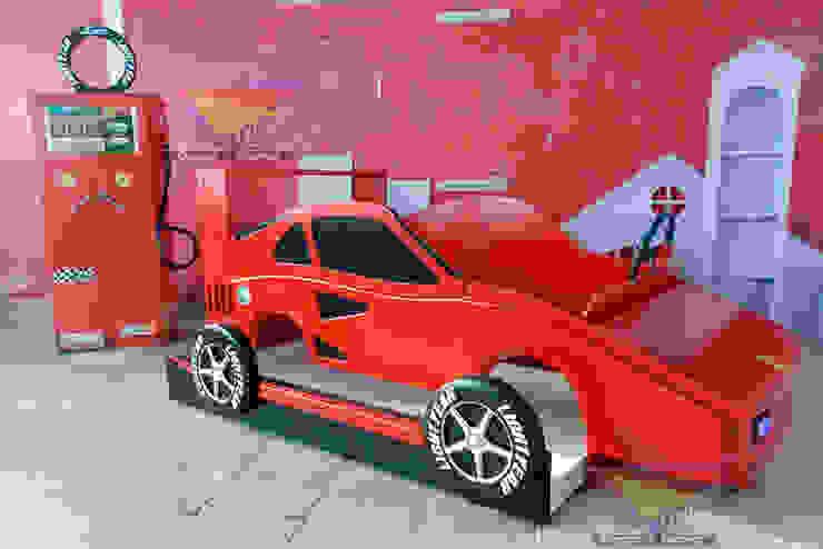 Fabulosa cama estilo Ferrari de Kids Wolrd- Recamaras Literas y Muebles para niños Moderno