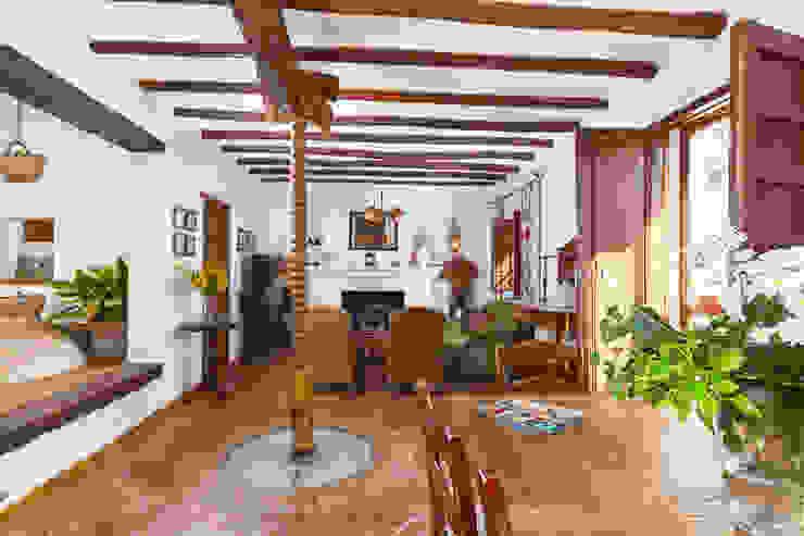 Rustic style living room by Espacios y Luz Fotografía Rustic