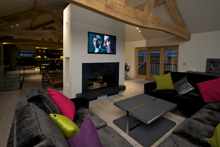 Barn Conversion Yorkshire Design Associates Rustic style living room