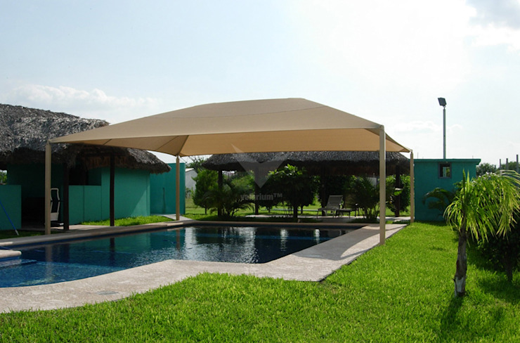 Pool by Velarium Shadeports, Modern
