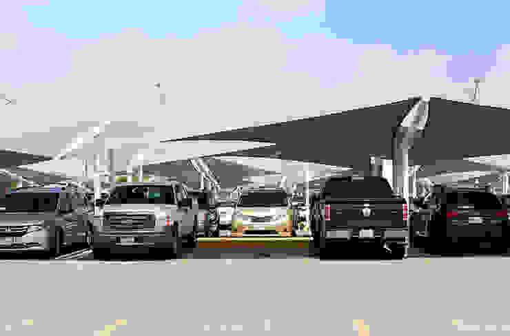 Modelo Hypar Wave Velarium Shadeports Aeropuertos de estilo moderno