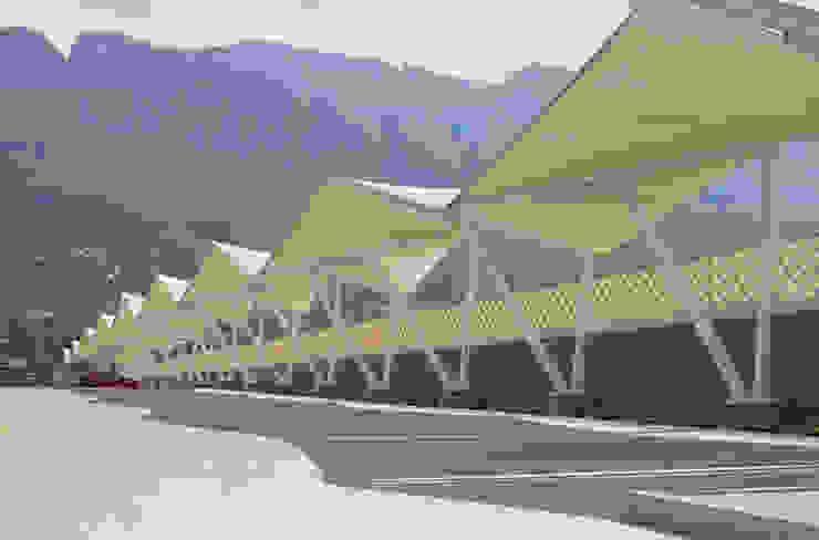 Modelo Hypar Wave Velarium Shadeports Centros comerciales de estilo moderno