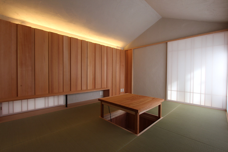 箕面森町の家 モダンスタイルの寝室 の 間工作舎 モダン