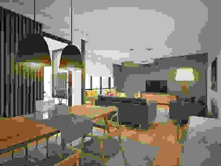 yücel partners – Lavinya Apartmanı: modern tarz , Modern