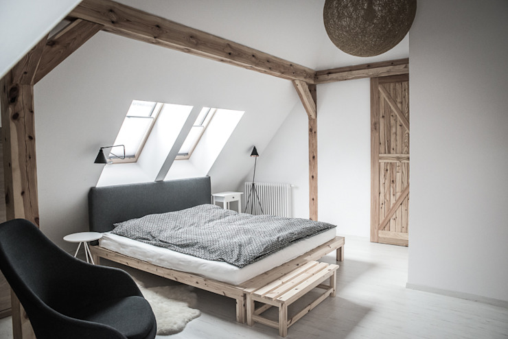 Rustic style bedroom by grupa KMK sp. z o.o Rustic