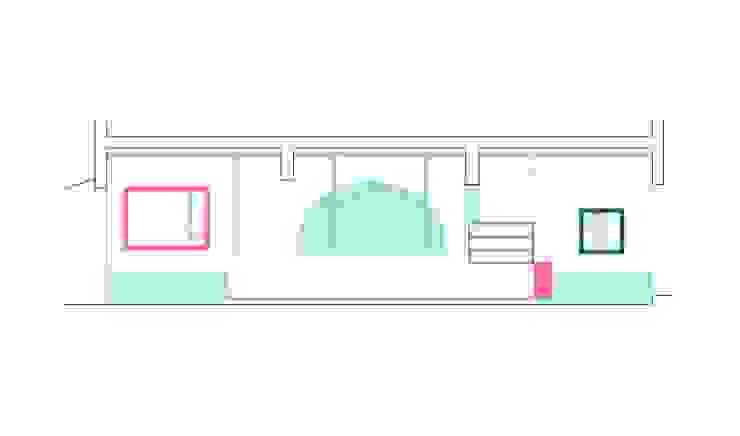 Sección del local Estudio de Arquitectura Sra.Farnsworth