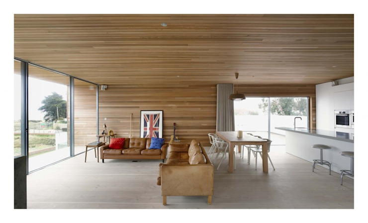 Pooley House Modern living room by Adam Knibb Architects Modern
