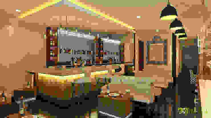 Commercial 3D Interior Rendering Bar Design: modern  by Yantram Architectural Design Studio, Modern