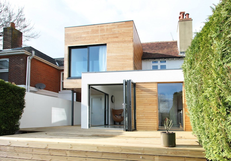 The Cube, Winchester Moderne huizen van Adam Knibb Architects Modern