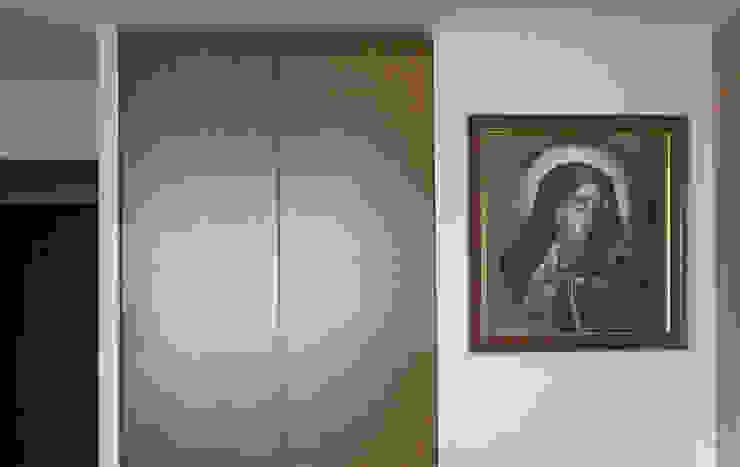 Mieszkanie prywatne Sosnowiec Minimalistyczna sypialnia od Projektowanie Wnętrz Agnieszka Noworzyń Minimalistyczny