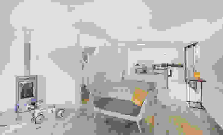 The Cedar Lodges Nowoczesny salon od Adam Knibb Architects Nowoczesny