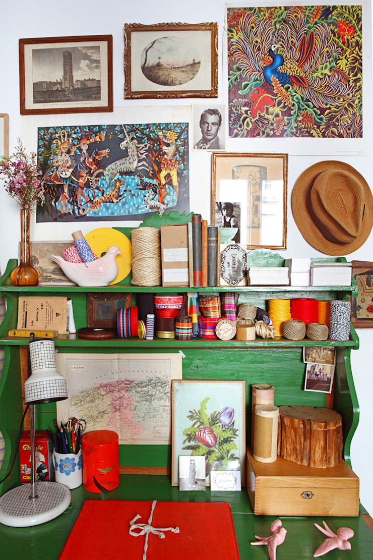 Mediterranean style study/office by Casa Josephine Mediterranean
