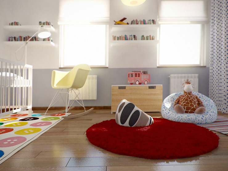Chambre d'enfant minimaliste par grupa KMK sp. z o.o Minimaliste