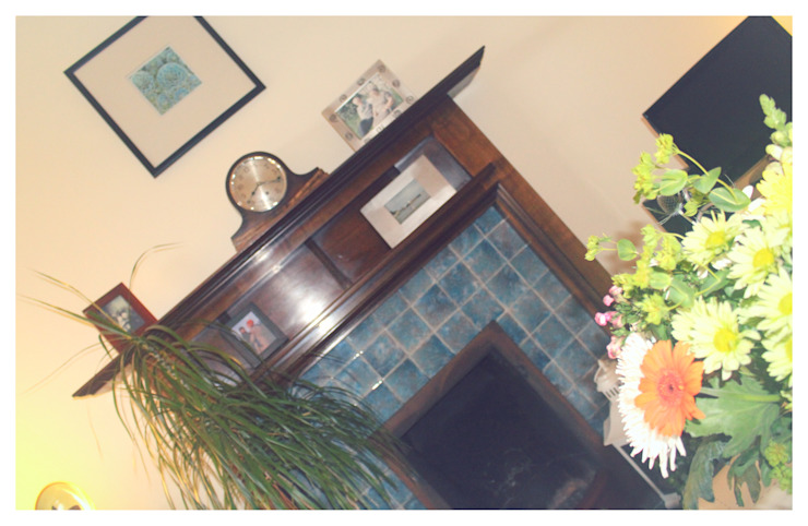 The original 1920s fireplace Crow's Nest Interiors Living roomFireplaces & accessories