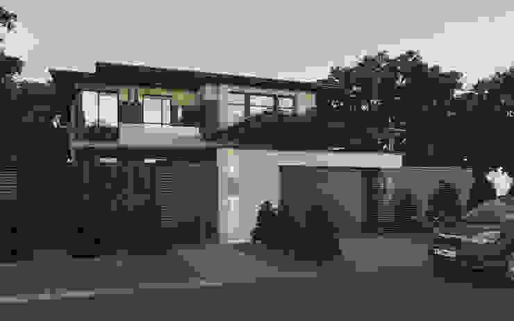 Вид на дом с улицы Дома в эклектичном стиле от studio forma Эклектичный